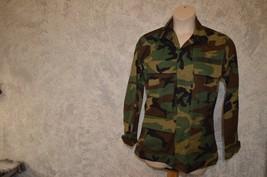 Us Army Issue Woodland Camouflage Hot Weather Jacket Sz S Regular - $4.89