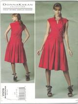 Vogue 1219 Donna Karan Pattern Mock Wrap Dress Drop Waist Size 6 8 10 12 Uncut - $12.60