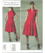 Vogue 1219 Donna Karan Pattern Mock Wrap Dress Drop Waist Size 6 8 10 12... - $12.60