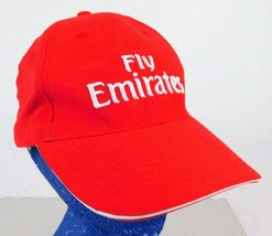 Official Fly Emirates Red Strapback Baaseball Hat Cap Microfibre Airlines - $12.99