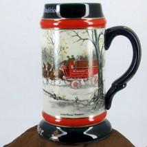 Ceramic Stein/Mug 1990 VINTAGE CLYDESDALE WAGON CERAMARTE SAMPSON ANHEUS... - $40.95