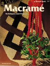 Vintage 1975 Macrame Techniques Projects Plant Hanger Rug Jewelry Patter... - $13.99