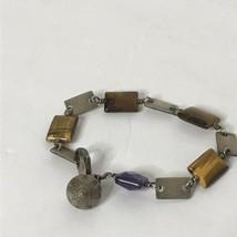 "Silvertone Multicolor Bracelet Approximately 7"" Long - $24.75"