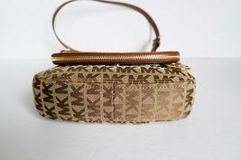 Michael Kors Bedford Small Flap Crossbody Jacquard Leaher Bag MK Beige Brown image 5