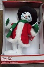 Anna Lee Coca-Cola Cold and Frosty Snowman Plush Figure  - $27.23