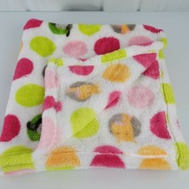 Blankets & and Beyond  Baby Elephant Monkey Giraffe Dot Circle Pink Gree... - $49.49