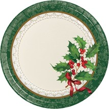 Holiday Traditions 8 Ct Dessert Paper Plates - $3.47