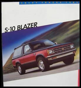 1986 Chevy Chevrolet S-10 Blazer Truck Color Brochure