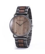 Bobo Bird Men's Steel Wooden Analog Quartz Wrist Watch GT023-2 - $44.00