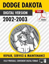 2002-2003 Dodge Dakota Factory Repair Service Manual - $9.90
