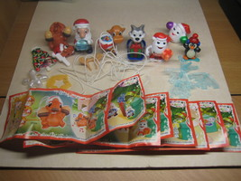 Kinder - 2014 FT154-161 - Christmas - complete set + 8 papers - surprise eggs - $13.00