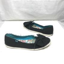 Keds Black Blue Slip On Bow Embellished Tennis Shoes Flats 8 - $19.95