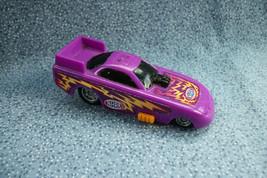 2002 National Hot Rod Association Drag Racing Purple & Orange Plastic Car  - $1.56