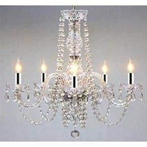 """Chandelier Made with Swarovski Crystal! Chandelier with Chrome Sleeves! H25"""" X W - $187.17"""