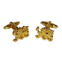 gold british heraldic lion Cufflinks , cuff links in gift box
