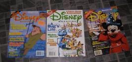 Disney Magazine Lot Disney World Bugs Life Hunchback Of Notre Dame - $15.99