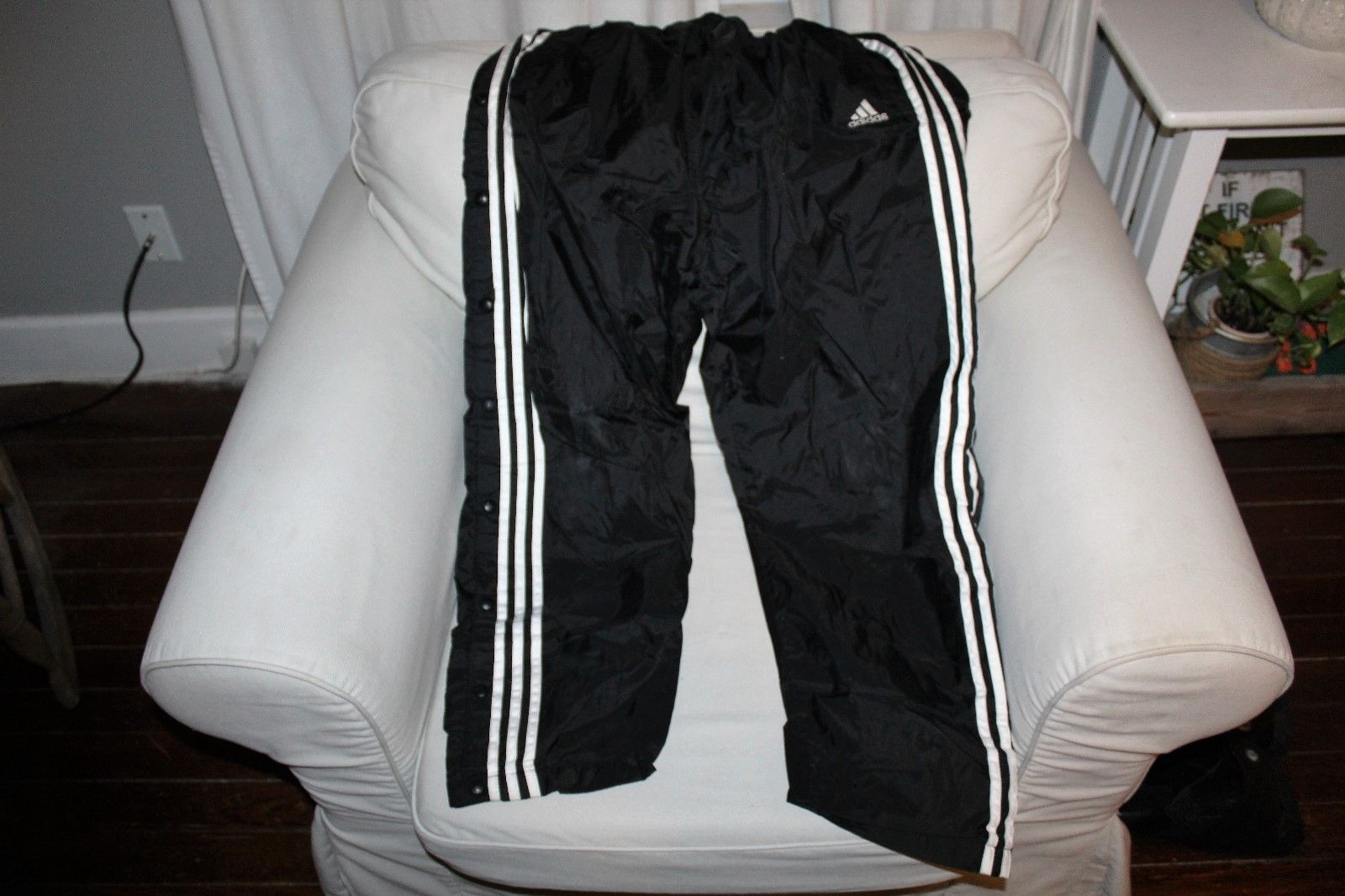 af7ac8a56fa Adidas 3 Strips Tearaway Track Pants Size L and 50 similar items