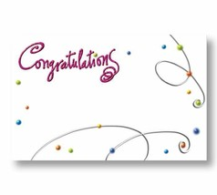 50 Blank Congratulations Enclosure Cards and Envelopes For Gifts Flowers - $13.98