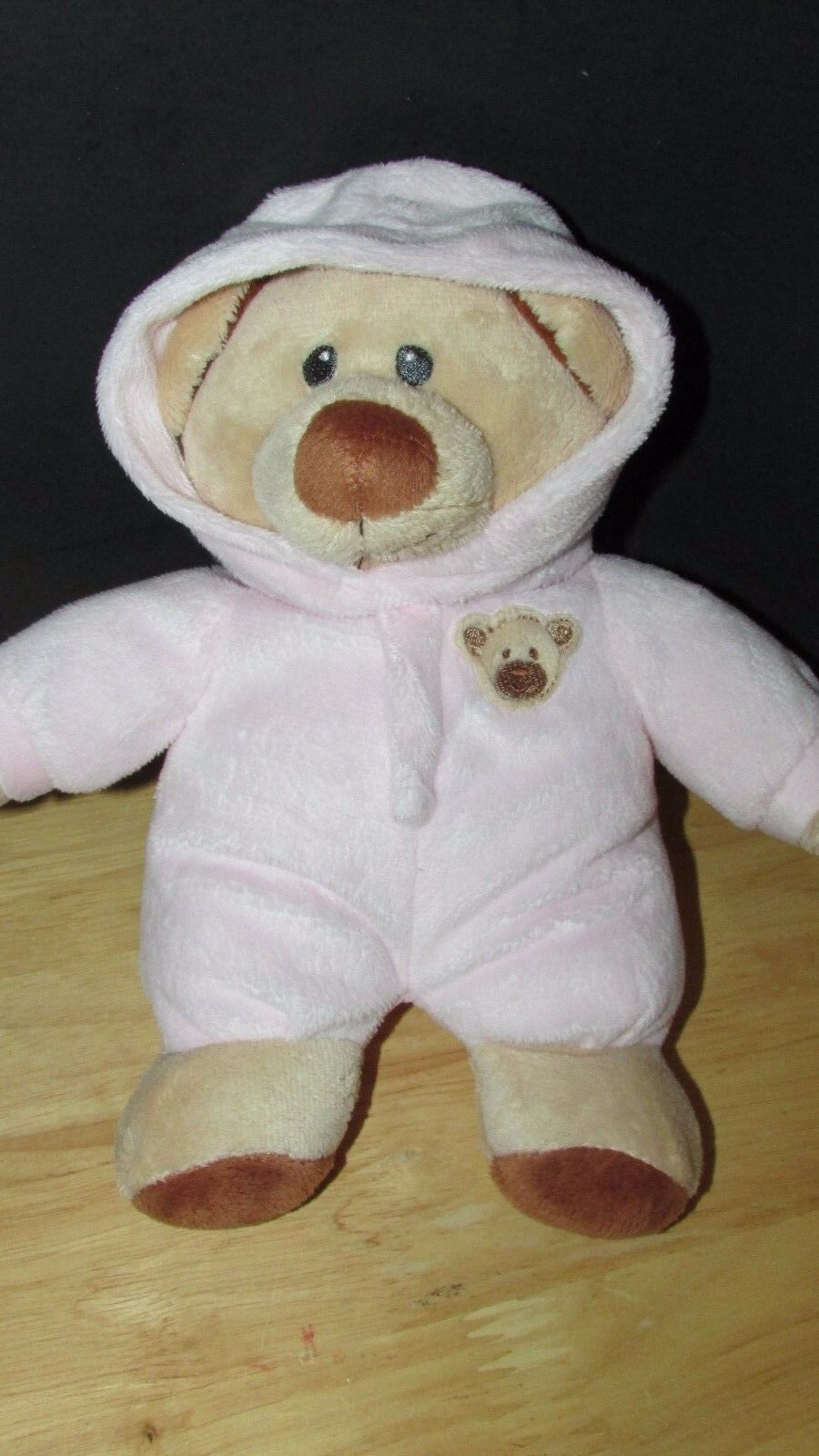 Ty tylux Pluffies tan Bear Pink attached hooded pajamas plush Love to Baby 2015