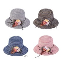 K Summer Floppy Straw Hat Women Ladies Wide Brim Beach Hat Sun Foldable Cap Fema image 5