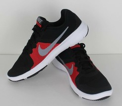 Nike flex youth kids control cross training sneaker black red white size... - $37.68