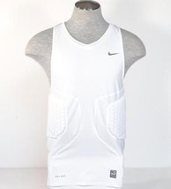 Nike Dri Fit Pro Combat White Padded Compression Basketball Tank Mens NWT - $59.99