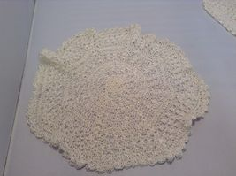 Assorted Antique Knit Doilies Set of 6 Various Sizes image 5