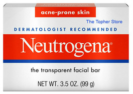 8 Neutrogena Acne Facial Cleansing Bar Soap, 3.5 oz Full Size, Fragrance Free - $37.05