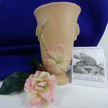Vintage Weller Vase Wild Rose Dogwood Pattern Matte Finish - $39.59