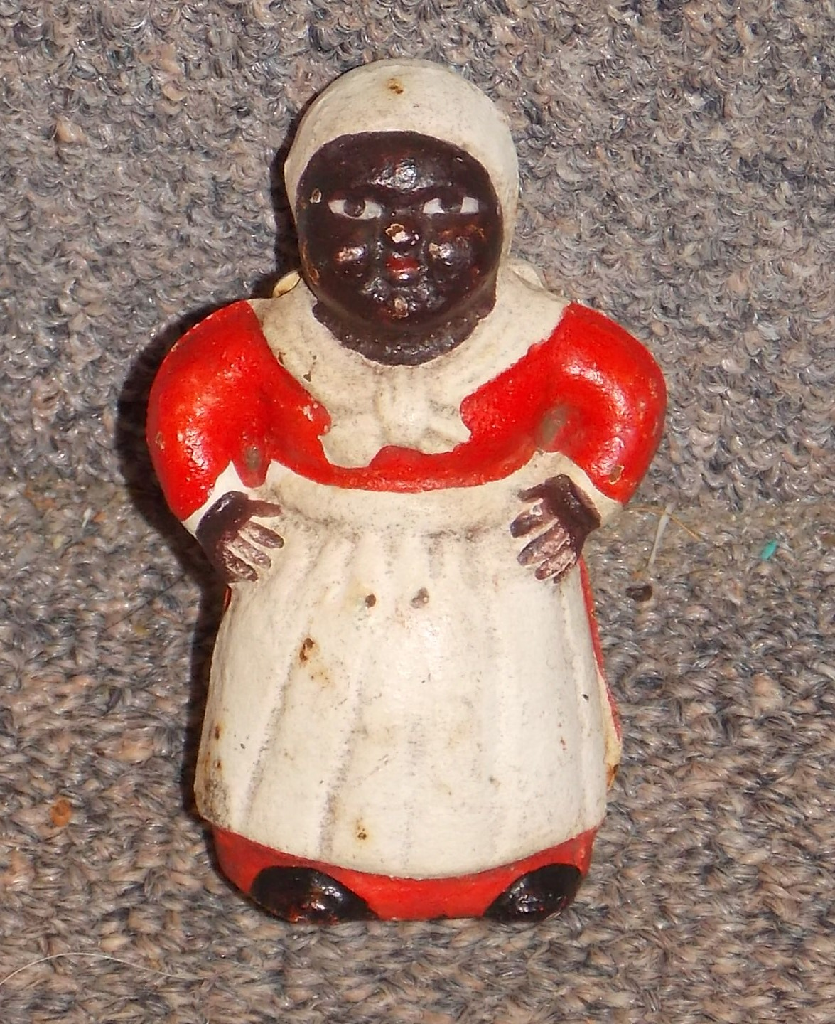Primary image for Vintage Aunt Jemima Cast Iron Bank 3 inches Tall