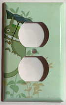 Totoro green Light Switch Outlet Toggle Rocker Wall Cover Plate Home decor image 2