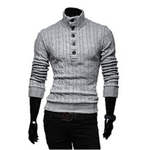 Mens Sweaters 2017 New Men Fashion Winter Coat Long-Sleeved Sweater Male... - $33.98+