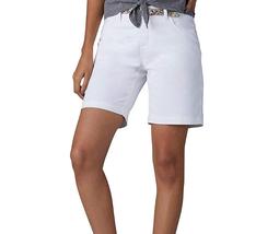LEE Platinum Petite Bradbury Solid Belted Stretch Walking Shorts, White ... - $22.08