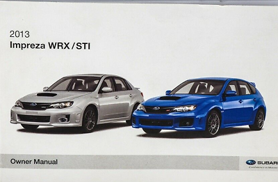 Primary image for 2013 Subaru Impreza wrx/sti Operators Owner Owners Manual OEM Factory