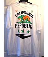 California Republic Tropical Bear White Short Sleeve T Shirt size XL New - $14.99