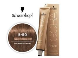 Schwarzkopf Royal Igora Permanent Color Light Brown Gold Natural 5-50  - $19.95+