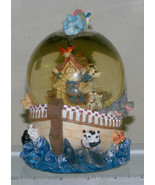 "Noah's Ark musical Snow Globe, hand painted resin, ""Sitting On Top Of Th... - $7.46"