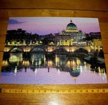 Jigsaw Puzzle 500 Pieces Vatican City Italy Landscape Aerial View Dusk C... - $9.89