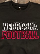 NWT ADIDAS NEBRASKA FOOTBALL BLACK EMBROIDERED CLIMAWARM FLEECE TOP XL $70+ - $44.55