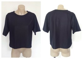 COUNTRY ROAD Ladies Navy Blue Box Fit Short Sleeve Top Size Small S - $15.49
