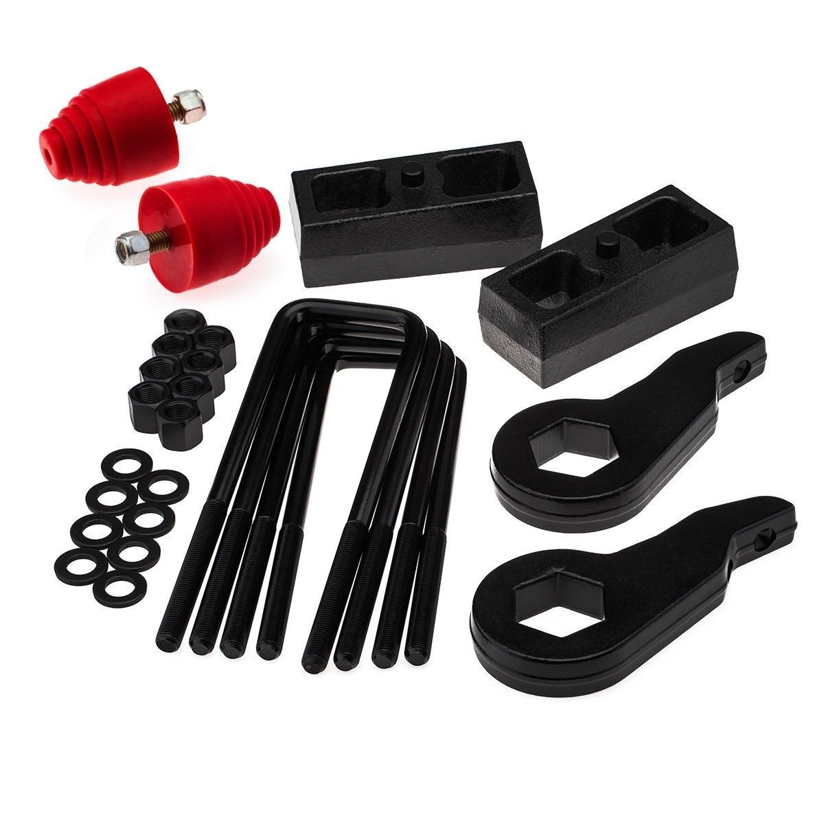 "Primary image for For Chevy Tahoe 95-99 4WD 3"" + 3"" Inch Torsion Bar Key Lift Kit with Bump Stop"