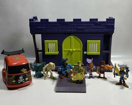 Vtg Scooby Doo Pirate Crew Fort Playset With 7 Figures & Car Van Working... - $53.99