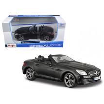 2011 2012 Mercedes SLK Class Convertible Matt Black 1/24 Diecast Model C... - $27.77
