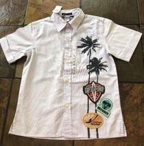 NWT Boys 4  5 Gap Kids Surf Shop Surfer Collar Button Front Shirt $20 NEW - $12.19