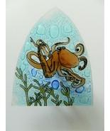 Octopus Fused Art Glass Night Light Nautical Ocean Ecuador US Plug - $24.70