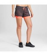 C9 Champion women's Layered Train Running Shorts Dark Gray/Coral - $3.15