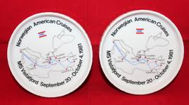 Rosenthal studio Linie NAC Norwegian American Cruises 1981 2 Dish Set Ge... - $26.77