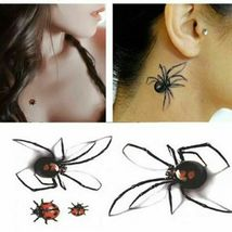 Black Spider 3d Waterproof Temporary Tattoo Stickers - One Sheet image 3