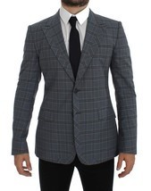 Dolce & Gabbana Checkered Slim Fit Blazer Jacket - €642,68 EUR