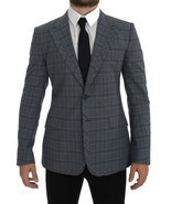 Dolce & Gabbana Checkered Slim Fit Blazer Jacket - €639,64 EUR